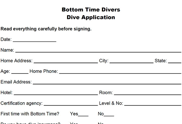 diver application